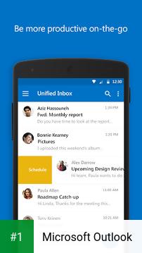 Microsoft Outlook app screenshot 1