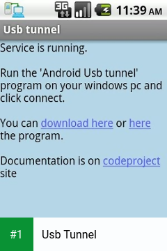 Usb Tunnel app screenshot 1
