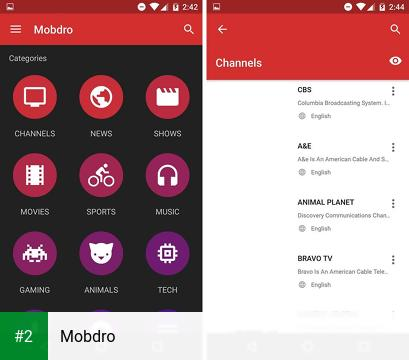 Mobdro apk screenshot 2