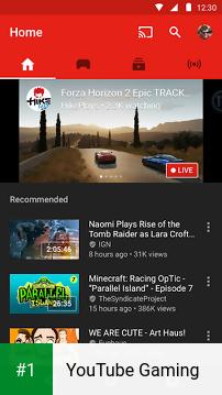YouTube Gaming app screenshot 1