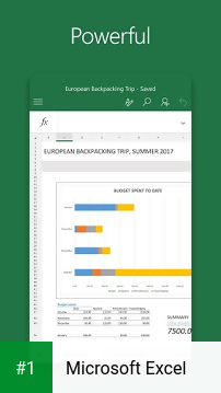Microsoft Excel app screenshot 1