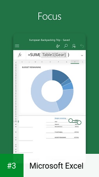 Microsoft Excel app screenshot 3