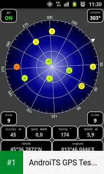 AndroiTS GPS Test Free app screenshot 1