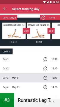 Runtastic Leg Trainer app screenshot 3