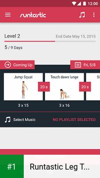 Runtastic Leg Trainer app screenshot 1