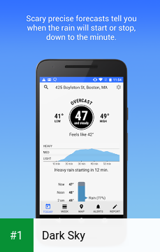 Dark Sky app screenshot 1