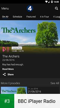 BBC iPlayer Radio app screenshot 3