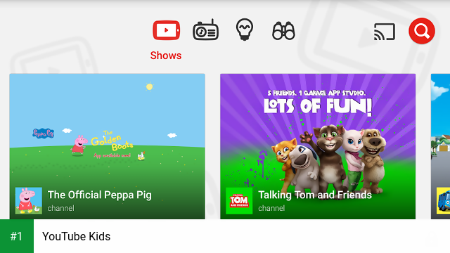 YouTube Kids app screenshot 1