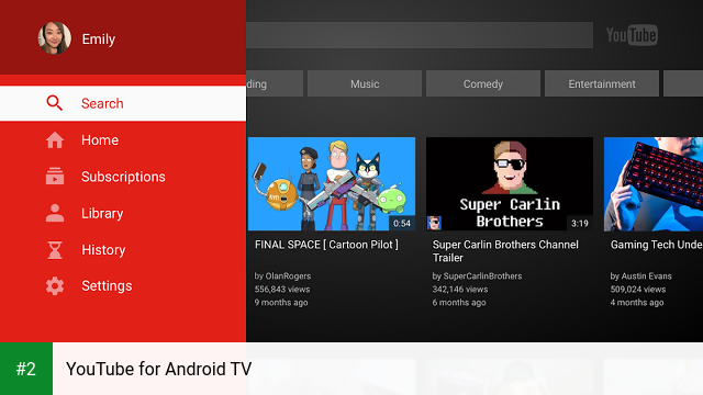 YouTube for Android TV apk screenshot 2
