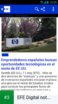 EFE Digital noticias app screenshot 3
