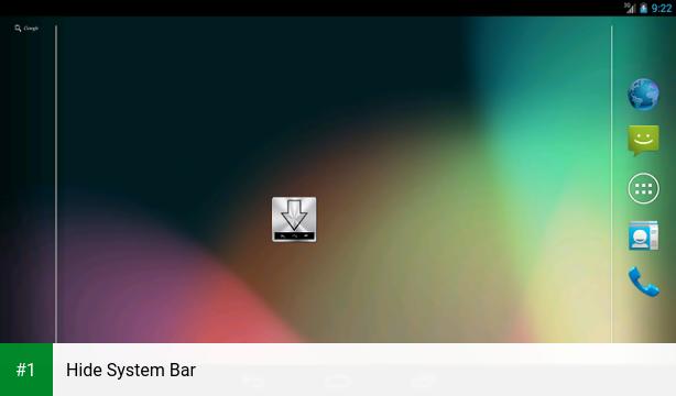 Hide System Bar app screenshot 1