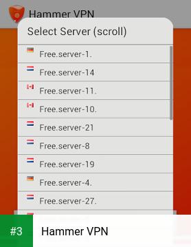 Hammer VPN app screenshot 3