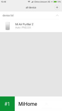 MiHome app screenshot 1