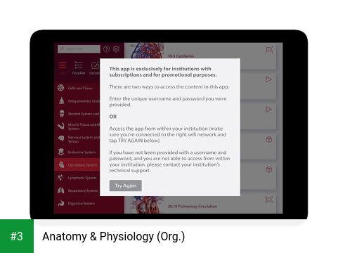 Anatomy & Physiology (Org.) app screenshot 3
