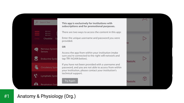 Anatomy & Physiology (Org.) app screenshot 1