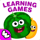 FunnyFood Kindergarten learning games for toddlers app icon