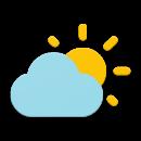 Simple weather & clock widget app icon