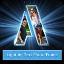 Lighting Text Photo Frame app icon