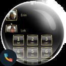 Frame Black Gold Dialer Theme app icon