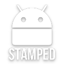 Stamped White Icons app icon