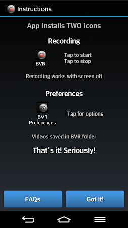 Background Video Recorder APK latest version - free download for Android